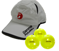 Pickleball Hat and Balls