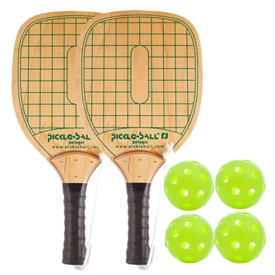 Swinger Wood Paddle Bundle - 2 paddles/4 balls