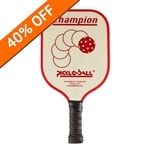 Vintage Champion Aluminum Core Paddle-colored logo and edge guard. Choose from Red, Green, Blue, Purple