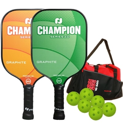 Champion Bundle with Bag - two graphite paddles/balls/duffle bag