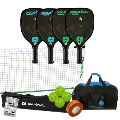 Venom2 Set- 4 paddles /net system/balls/line tape/bag/rules