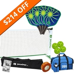 Vortex 2.0 Set- 4 paddles /net system/balls/line tape/bag/rules