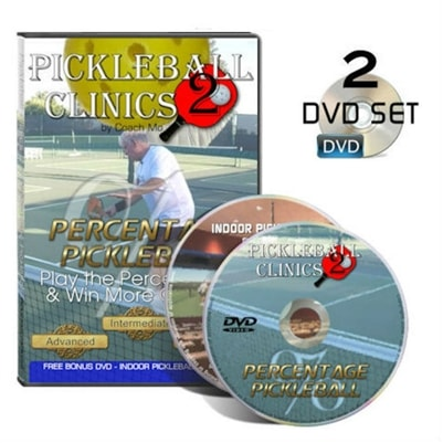 Percentage Pickleball Clinic- 2-DVD Set by Coach Mo