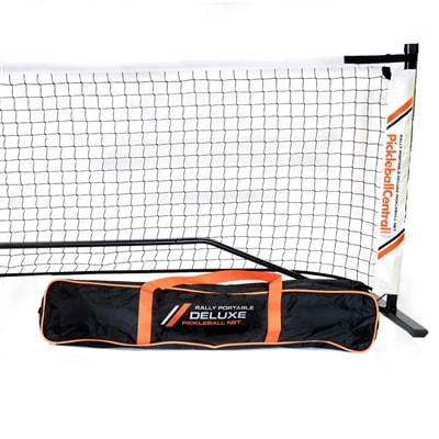 Rally Deluxe Portable Pickleball Net System with Ball Holder