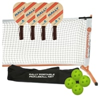 Rally Meister Pickleball Set with Portable Net