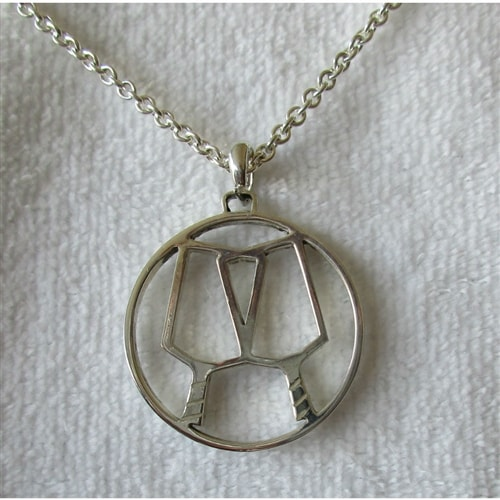 Sterling Silver PIckleball Partners Pendant