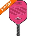 The Selkirk 200P Polymer Honeycomb Composite Pickleball Paddle shown in two widths, and 8 different colors.