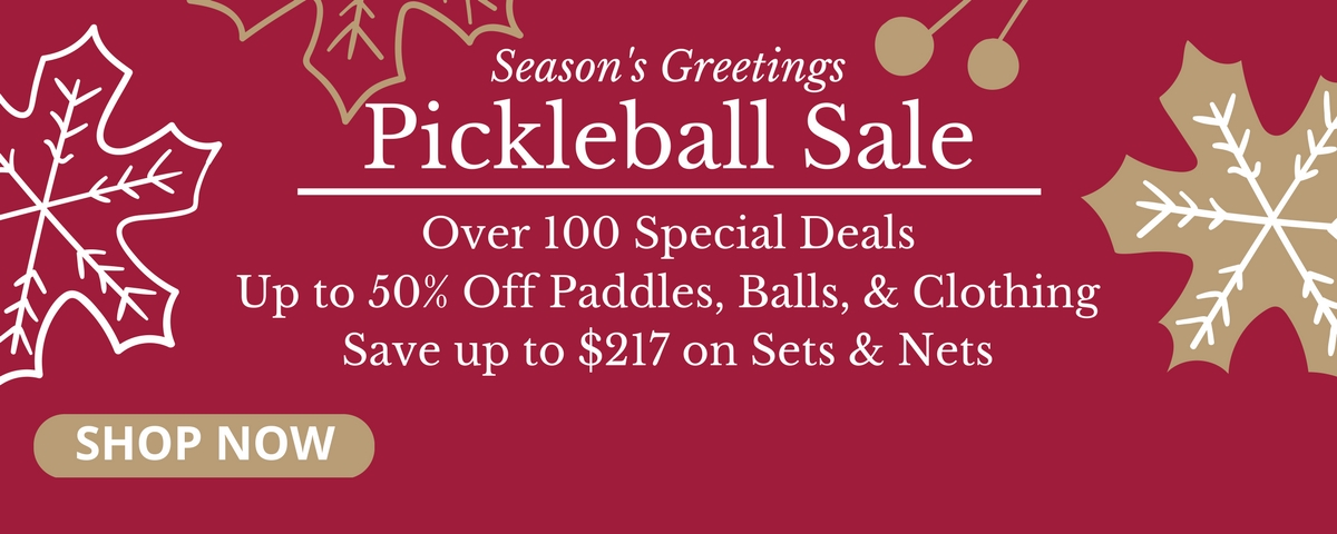 Pickleball Central Holiday Sale - Save Up to 70% On Paddles, Gifts, & Equipment