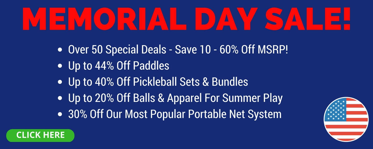 Pickleball Central Memorial Day Sale - Save Up to 60%