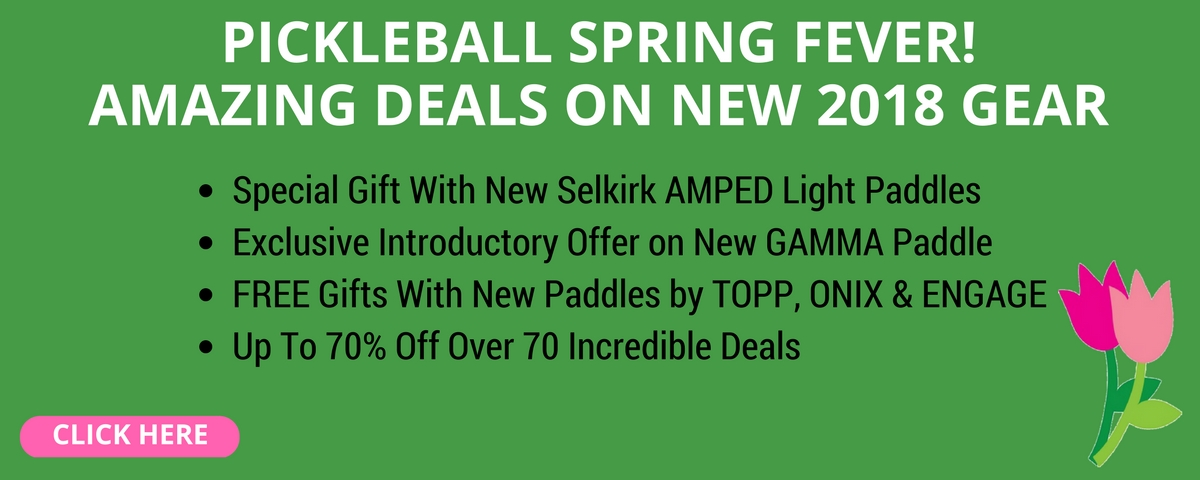 Save up to 70% on our Pickleball Spring Paddle Sale!