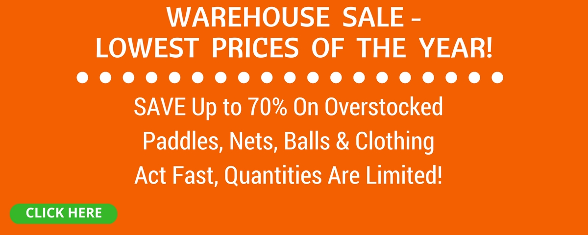 Save up to 70% on our Pickleball Warehouse Sale!