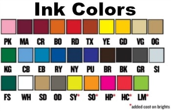 Ink Colors For Custom Pickleball T Shirts