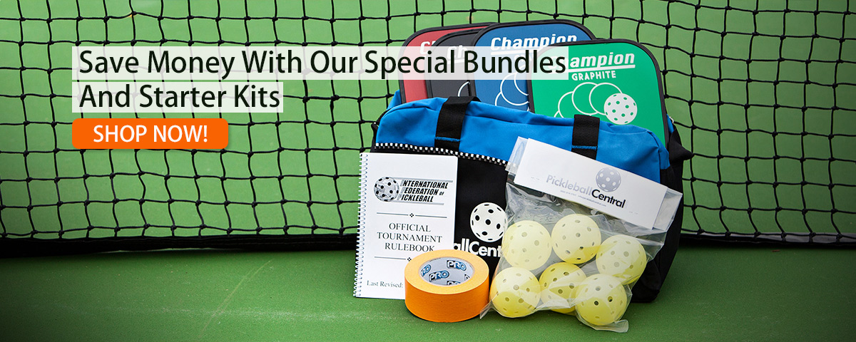 pickleball sets with paddles, balls, and extras.