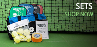 pickleball sets with paddles, balls, and more.